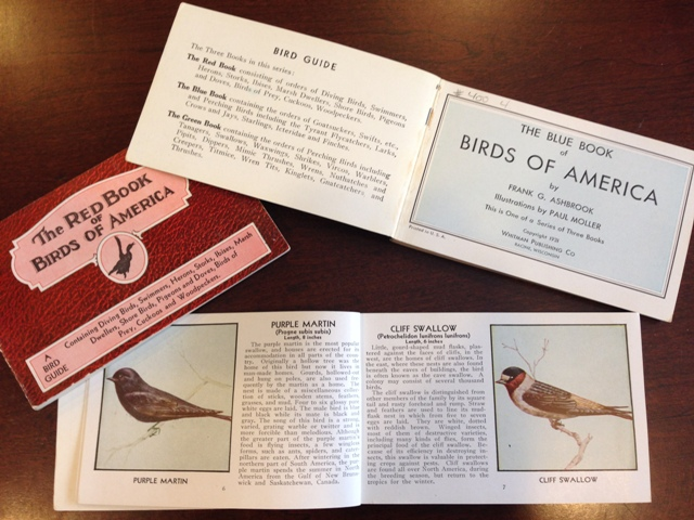 Birds of America  three volume set written by Frank G. Ashbrook, and illustrated by Paul Moller. Published in 1931 by the Whitman Publishing Company, Racine, Wisconsin