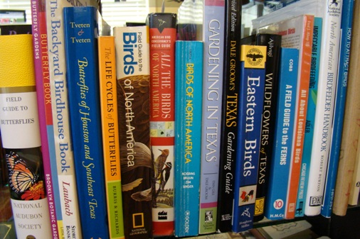 Our personal nature bookshelf ... part of our collection that we use regularly
